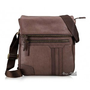 Messenger bag leather men, coffee shoulder bag leather