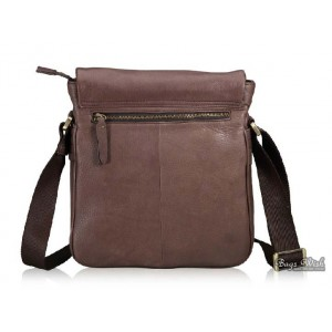 coffee shoulder bag leather