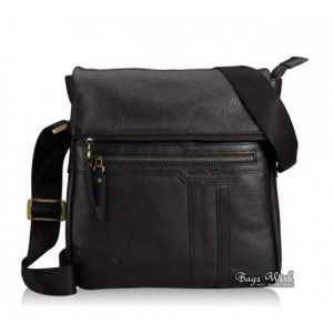 black shoulder bag leather
